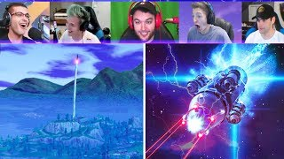 Download Fortnite Streamers REACT to Rocket Launch! (Fortnite Battle Royale Rocket Launch LIVE Gameplay) Video