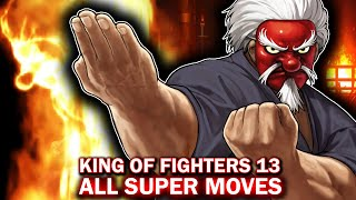 Download KING OF FIGHTERS XIII ALL CHARACTERS NEO MAX SUPER MOVES KOF13 Video