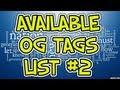 Download AVAILABLE OG GAMERTAGS LIST **FREE* *UNUSED** Video