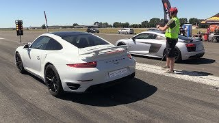Download Audi R8 V10 Plus vs Porsche 991 Turbo S Video