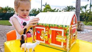 Download Old Macdonald had a farm Nursery Rhyme song for kids by Like Nastya Video