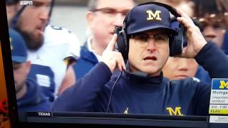 Download Michigan Coach Jim Harbaugh Breaks Headset, Gets Flag, Ohio score easy TD. Video