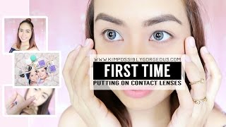 Download First Time Wearing Contact Lenses (Using AIR OPTIX) | Kim Mendoza Video
