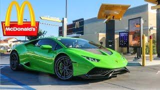 Download MCDONALD'S DRIVE THRU WITH A LAMBORGHINI! Video