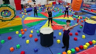 Download SUPER INSANE GYMNASTICS OBSTACLE COURSE! Video