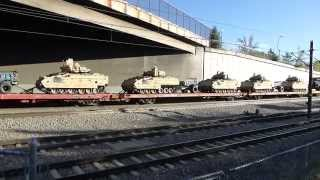 Download Union Pacific Military Vehicle Transport Train in Littleton, CO Video