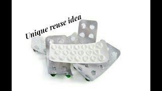 Download Reuse DIY idea with empty medicine stripes | Making earrings | jewellery tutorials Video