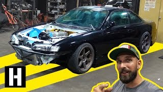 Download 1JZ Swapped S14 Gets Some Fabrication Work. Single GTX3076! Video