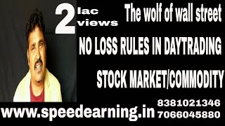 Download The wolf of wall street NO LOSS RULES IN DAYTRADING OF STOCK MARKET/COMMODITY Video