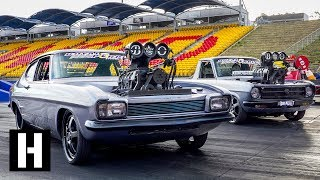 Download Aussie Tandem Tip-in Burnout party w/ The Blown Outlaws Video