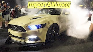 Download Import Alliance 2017 Day 2 - Event & After Meet - Mustang RUNS From Cops! Video