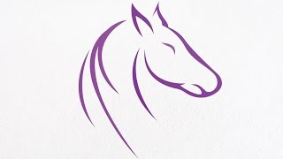 Download Horse logo design with Corel Draw X7 Video