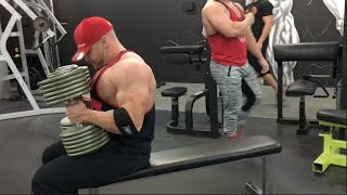 Download Slaying the 160lb Dumbbell Bench Press Challenge at The Lift Factory Video