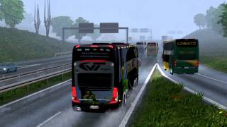 Download Euro Truck Simulator 2 Bus trip to Gdansk with Marcopolo Paradiso G7 1800 DD p1 Video