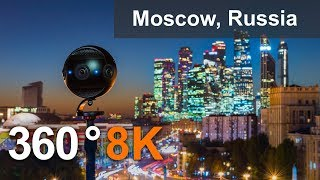 Download Moscow City Center, Russia. 360 Timelapse in 8K Video