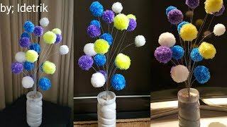 Download Cara Membuat Bunga Hias Plastik Kresek Bulat | Beautiful flower craft from crackle plastic Video