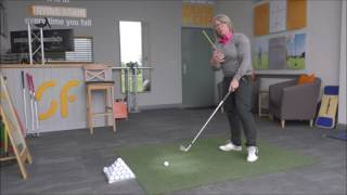 Download Best drill to strike solid, accurate golf shots - turn through impact Video