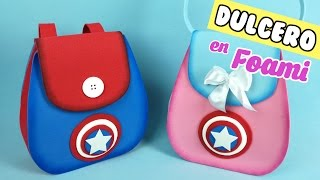 Download ✂❤DIY - DULCERO DE CAPITAN AMERICA EN FOAMI FOAMY GOMA EVA MICROPOROSO - MANUALIDADES FACILES Video