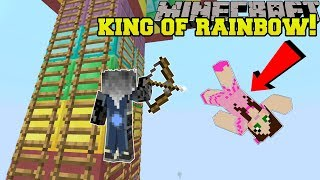 Download Minecraft: RAINBOW KING OF THE LADDER! - HEAD HUNTER THEME PARK [3] Video