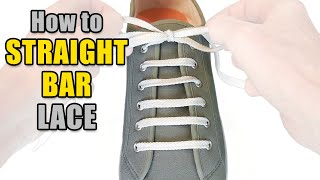 Download How to Straight Bar Lace your shoes - Professor Shoelace Video
