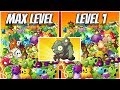 Download Plants vs Zombies 2 Epic Hack - All Plants Max Level vs Level 1 Power UP vs Big Head Gargantuars Video