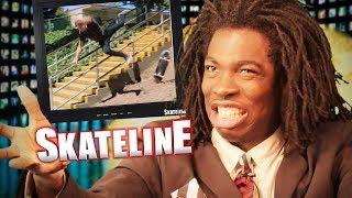 Download SKATELINE - Grant Taylor, CJ Collins, Anti Hero, Yuri Facchini, Garrett Ginner 18 Stair Fall Video