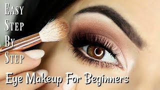Download Beginners Eye Makeup Tutorial | Soft Glam Eye Shadow | How To Apply Eyeshadow Video