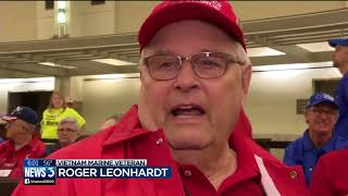 Download Vietnam vets thanked on first Badger Honor Flight of 2018 Video
