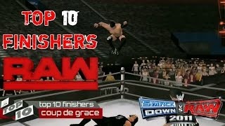Download top 10 finishers from raw Wwe2k11 Video