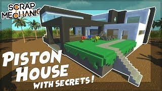 Download PISTON HOUSE with SECRET ROOMS! - Scrap Mechanic Gameplay Viewer Creations! Video