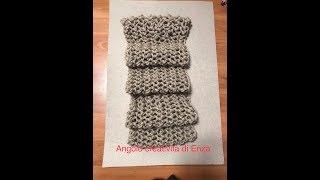 Download Sciarpa punto rete ai ferri facilissima❤ Knitted scarf easy❤ Bufanda de punto fácil Video