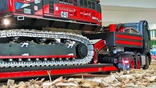 Download BIG RC TRUCK EXCAVATOR CATERPILLAR TRANSPORT! special video cut! R/C mercedes truck ACTION! Video