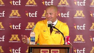 Download Press Conference: P.J. Fleck on Gophers' 26-3 Win over Miami-Ohio Video