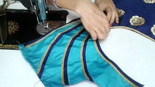 Download easy blouse oneside neck designe cutting and stitching Video