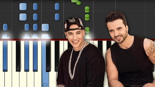 Download Despacito / Luis Fonsi ft Daddy Yankee / Piano Tutorial / Synthesia / Notas Musicales Video