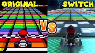 Download Mario Kart 8 Deluxe - Retro Track Comparison (Switch vs SNES, N64, GBA, GCN, DS, Wii, 3DS) Video