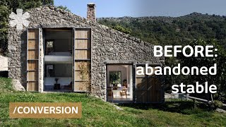 Download Abandoned stable becomes off-grid, luxurious family dream home Video