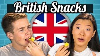 Download TEENS EAT BRITISH SNACKS! (Jaffa Cakes, Sherbet Fountain, Monster Munch) | Teens Vs. Food Video
