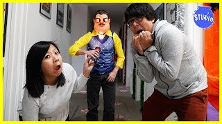 Download Hello Neighbor IRL !! Scary Neighbor Guarded the Office! Video