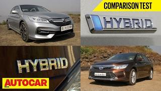 Download Honda Accord Hybrid VS Toyota Camry Hybrid   Comparison Test   Autocar India Video