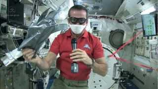 Download Chris Hadfield gets tough on Space Station spills Video