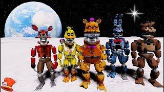 Download NIGHTMARE ANIMATRONICS GO TO SPACE! (GTA 5 Mods For Kids FNAF RedHatter) Video