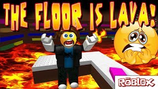 Download THE FLOOR IS LAVA ON ROBLOX! CAN YOU SURVIVE? Video