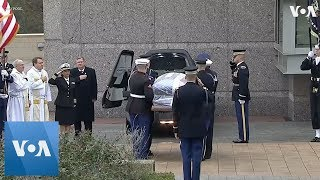 Download Bush Arrives at Presidential Library for Burial Video