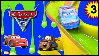 Download CARS 3 Movie Toys SLIME RACE GAME w/ Lightning McQueen FIND MATER Surprise Toys with Disney Cars Video
