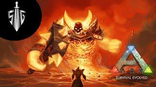 Download Lava Golem I Ark Survival Evolved Ragnarok #9 Video