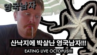 Download 산낙지에 박살난 영국남자 조니!! // Eating LIVE OCTOPUS!! Video
