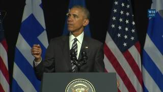 Download President Obama Delivers Remarks at the Stavros Niarchos Foundation Cultural Center Video