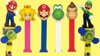 Download Nintendo SUPER MARIO Candy Fans & Pez Dispensers with Yoshi, Squishy & Princess Peach Video