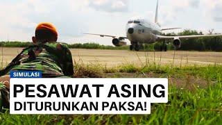 Download TNI AU TURUNKAN PAKSA PESAWAT ASING Video